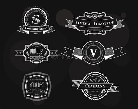 hipster design elements vector hipster vector vintage logo elements set stock vector