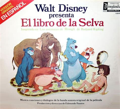libro walt disneys the jungle walt disney s el libro de la selva the jungle book in spanish soundtrack en espanol lp cd