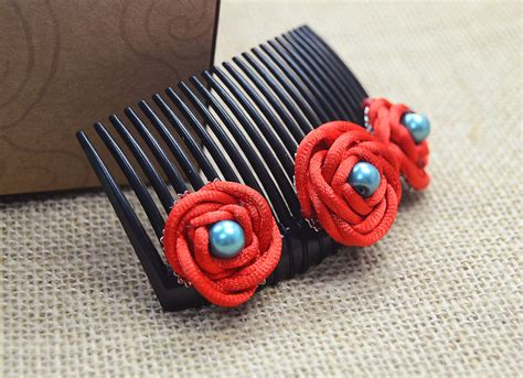 Craft Knots - hair combs with handmade knot roses family crafts