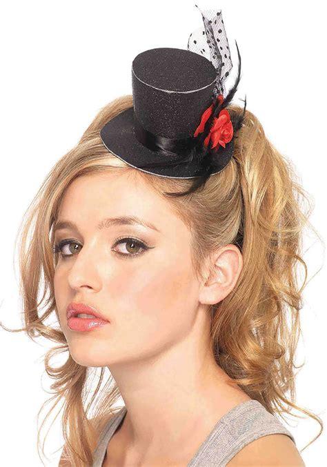 Mimi Top mini black top hat