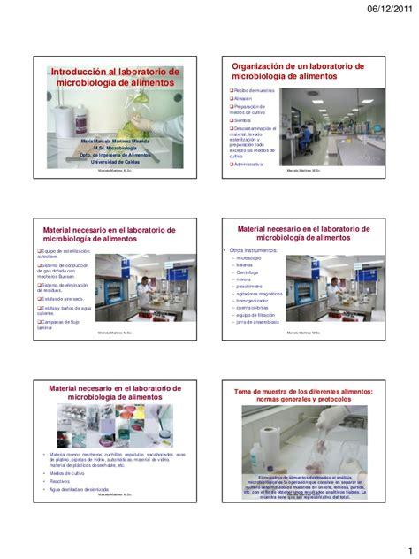introduccion al laboratorio de microbiologia de alimentos
