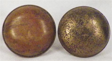 Cleaning Brass Door Knobs by 2 Vintage Brass Door Knobs Hardware Restoration No Post