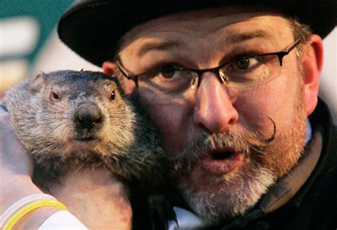 the groundhog day groundhog punxsutawney phil sees shadow and winter