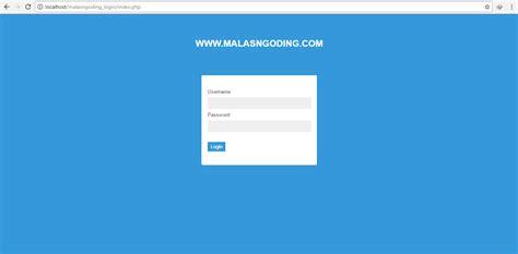 membuat login dengan php dan ajax membuat login dengan php dan mysql md5 malas ngoding