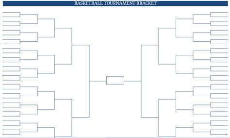 Blank Ncaa Bracket Template printable blank pdf ncaa s basketball tournament