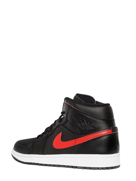 Nike Air 1 Mid Weiß 1033 by Nike Air 1 Mid Faux Leather Sneakers For Lyst