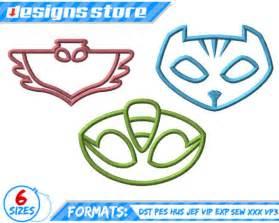 pj mask logos applique design machine embroidery catboy