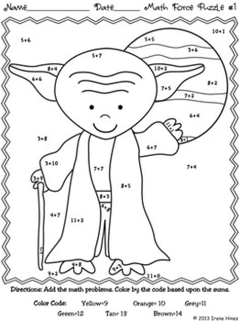 star wars coloring pages preschool math may the facts be with you color by codes puzzle