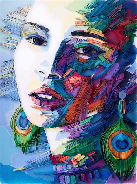 kleurrijke papieren portretten eyespired