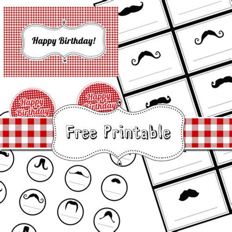 free printable mustache party decorations 18 free party printables for busy moms tip junkie