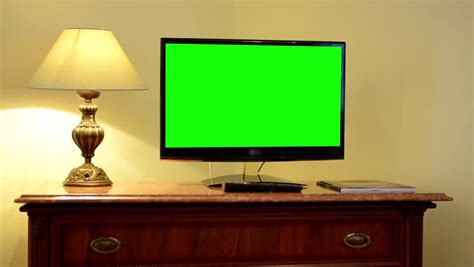 green tv tv television green screen luxury room stock footage video 8994844 shutterstock