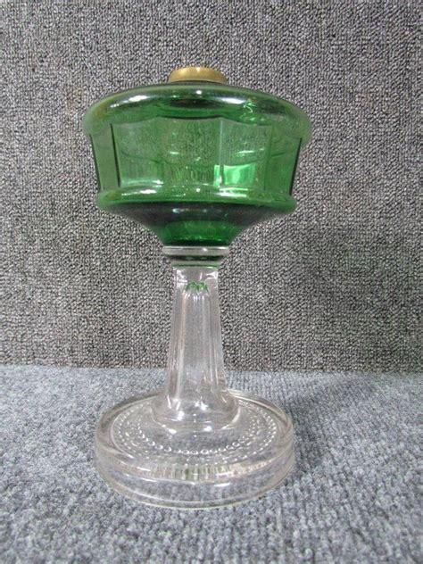 Hobbs Jadite Green Milk Glass Atterbury Base Oil L