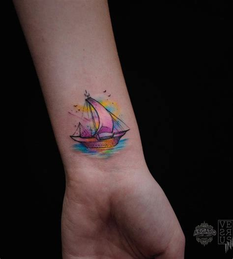 nautical wrist tattoos sailboat wrist www imgkid the image kid has it