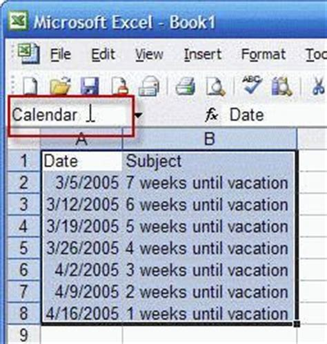 create countdown calendar in outlook countdown days in excel 2007 count days between two
