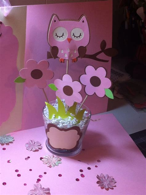 Baby Shower Centerpiece I Made Owl Themed Visit Owl Centerpieces For Baby Shower