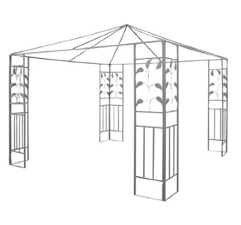 gazebo frames review outsunny 10 x 10 steel gazebo frame leaf design