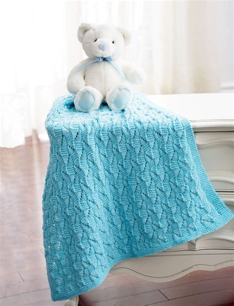 knit baby blanket pattern sport weight yarn staggered squares blanket in bernat baby sport knitting