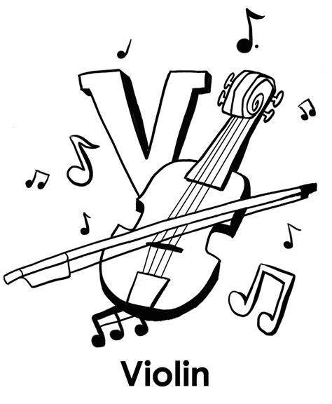 coloring page of violin v for violin alphabet coloring pages alphabet coloring