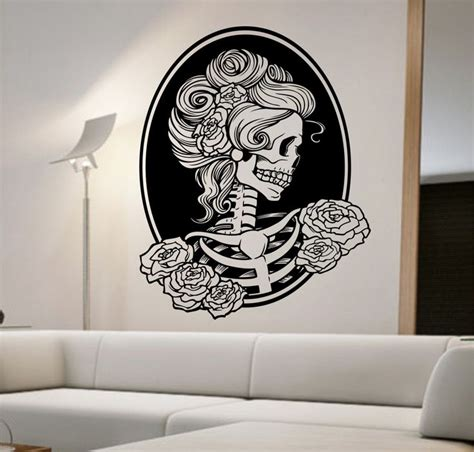Day Of The Dead Bedroom Ideas by Day Of The Dead Vinyl Wall Decal Sticker Decor