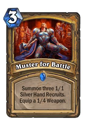 Muster For Battle Muster For Battle Hearthstone Cards
