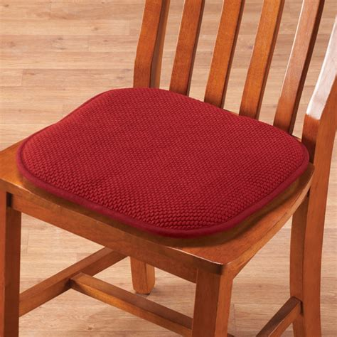 Foam Seat Pads For Dining Chairs by Memory Foam Chair Pads Set Of 2 Foam Cushions Seat