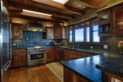 Soapstone Kitchen countertops with Full height soapstone