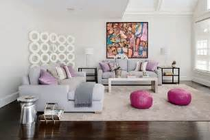 Living Room With Purple Sofa 10 Awesomely Creative Pouf Ideas For Interior Design