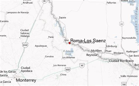 roma texas map roma los saenz location guide