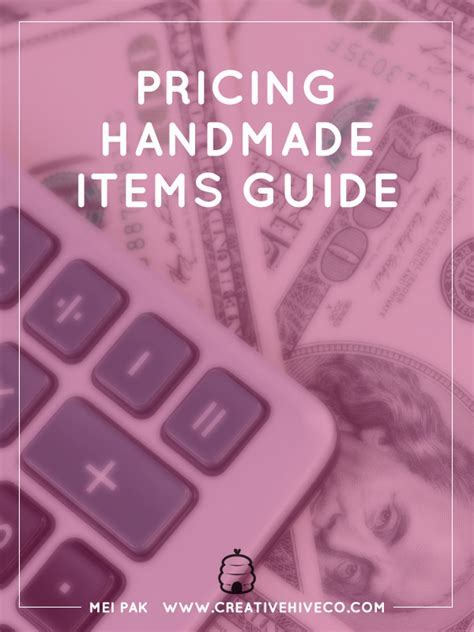 How To Price Handmade Items - pricing handmade items guide