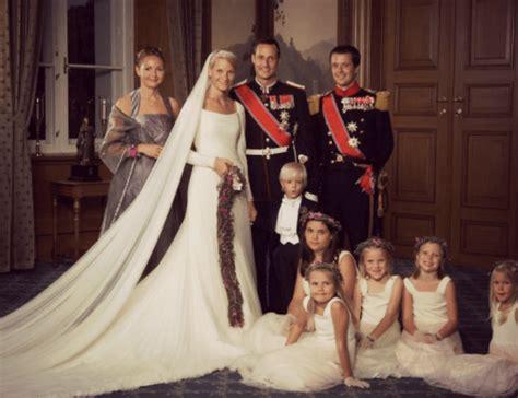 hochzeitskleid mette marit crown prince haakon s a wedding anniversary royal watchng