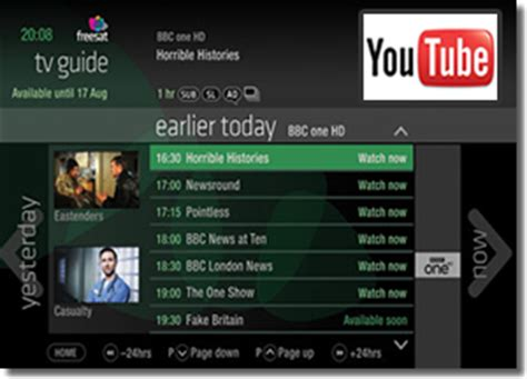 youtube tv channel coming to freesat program guide