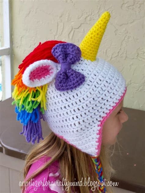 knitting pattern for unicorn hat a really fun rainbow crochet unicorn hat links to free
