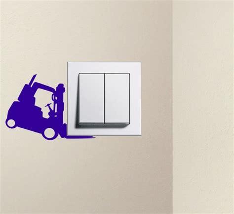 designer forklift light switch decals vinyl wall