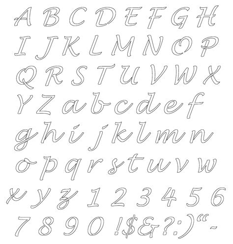 fancy lettering template free alphabet templates stencils free printable