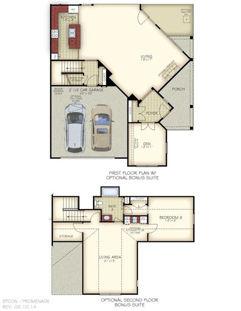epcon floor plans the promenade floor plan optional 2nd floor bonus suite