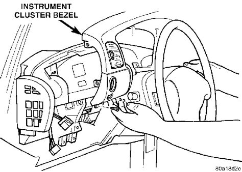 manual repair autos 2003 chrysler sebring instrument cluster 1997 chrysler gauges the speedometer stays runs great mechanics
