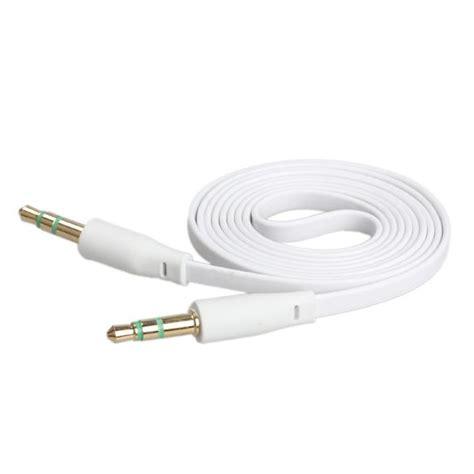 Turtle Brand Aux Cable White 1 2 M 2017 car cell phone aux cable flat aux audio cord
