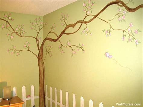 trees on wall tree wall murals 50 painted tree wall mural exles