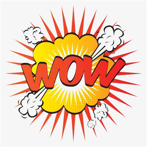 wow clipart wow explosion sticker exclamation