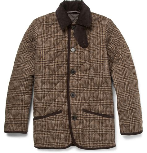 Mackintosh Quilted Jacket mackintosh waverly prince of wales check quilted wool