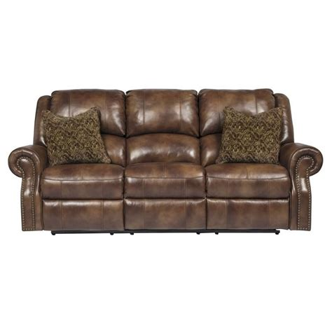 leather power reclining sofa walworth leather power reclining sofa in auburn
