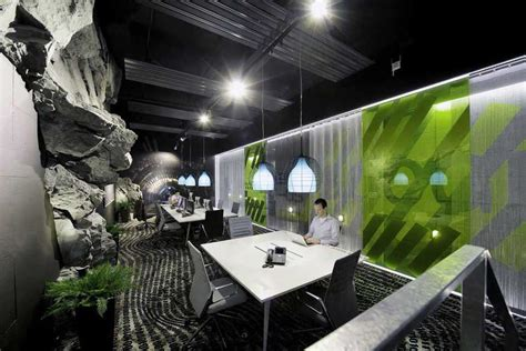 google office interior 2 interior design ideas awesome google zurich office with rock wall interior