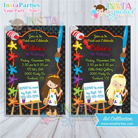 chalkboard paint birthday ideas invitations artist birthday