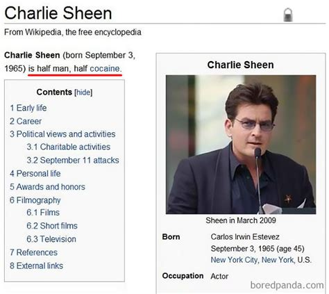 10 of the funniest wikipedia edits by internet vandals