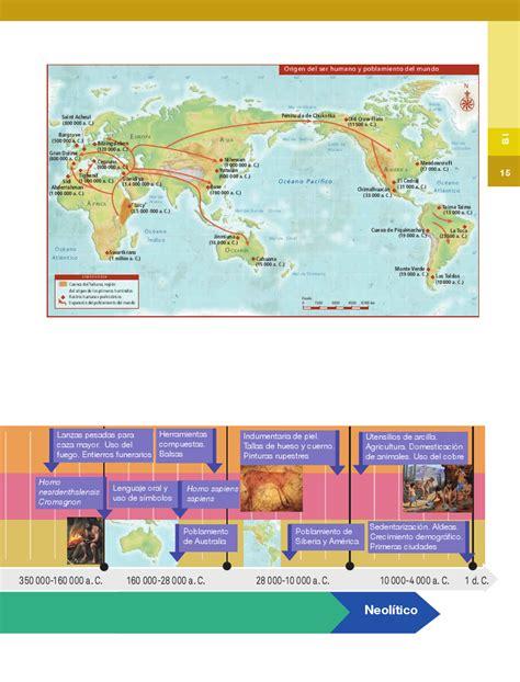 origen del ser humano y poblamiento del mundo sexto historia14 bloque 1 panorama del periodo