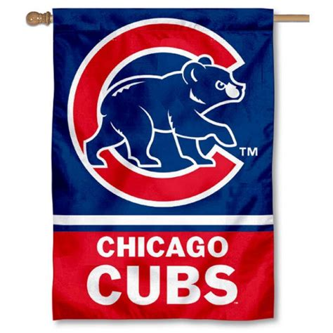 chicago cubs flags sports flags and pennants chicago cubs double sided house flag your chicago cubs