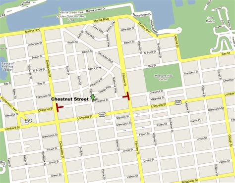 map of streets chestnut map shopping guide san francisco s