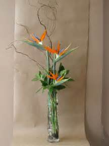 Bird Of Paradise Flower Arrangement Vase by Glass Bamboo Vase With Birds Of Paradise Curly