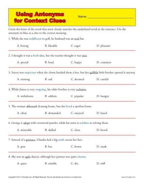 Vocabulary Context Clues Worksheets by 25 Best Ideas About Context Clues Worksheets On