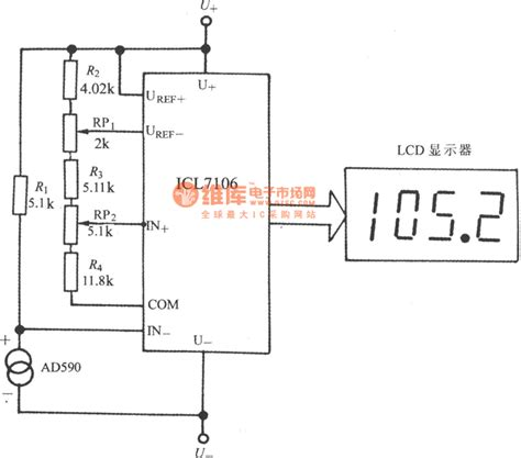 integrated circuit sensor the digital thermistor composed of the current outputting precise integrated temperature sensor